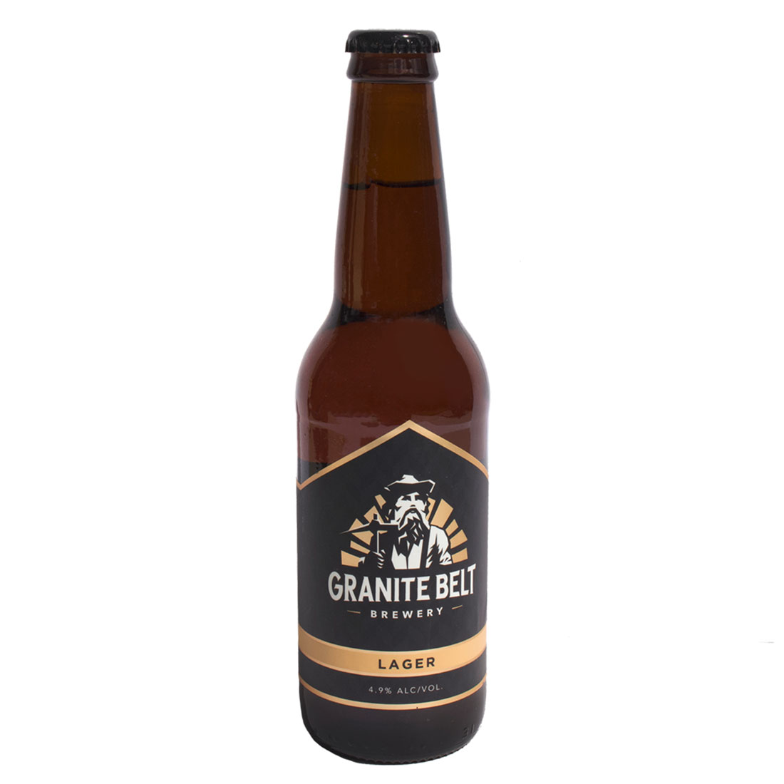 Lager bottle by Granite Belt Brewery
