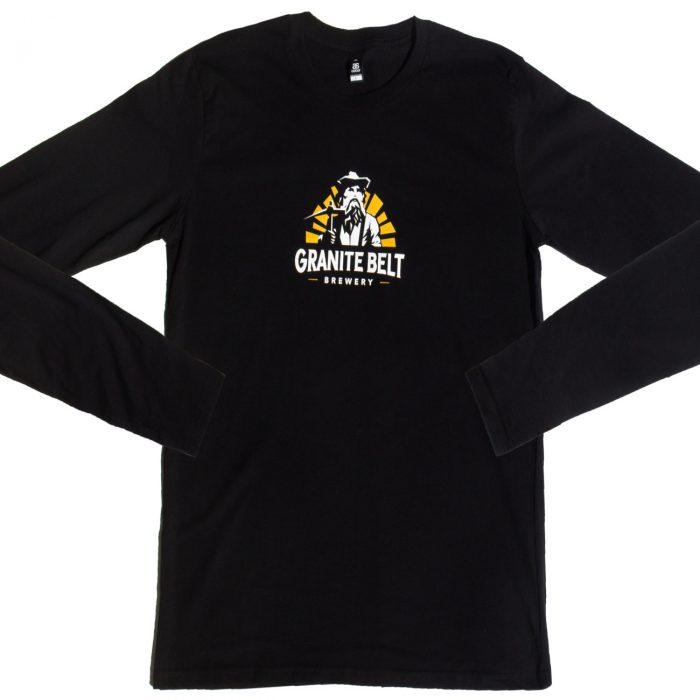 black long sleeve shirt with logo