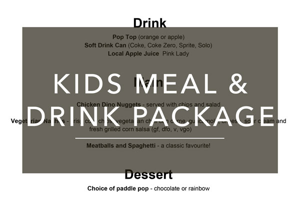 Kids meal and drink package