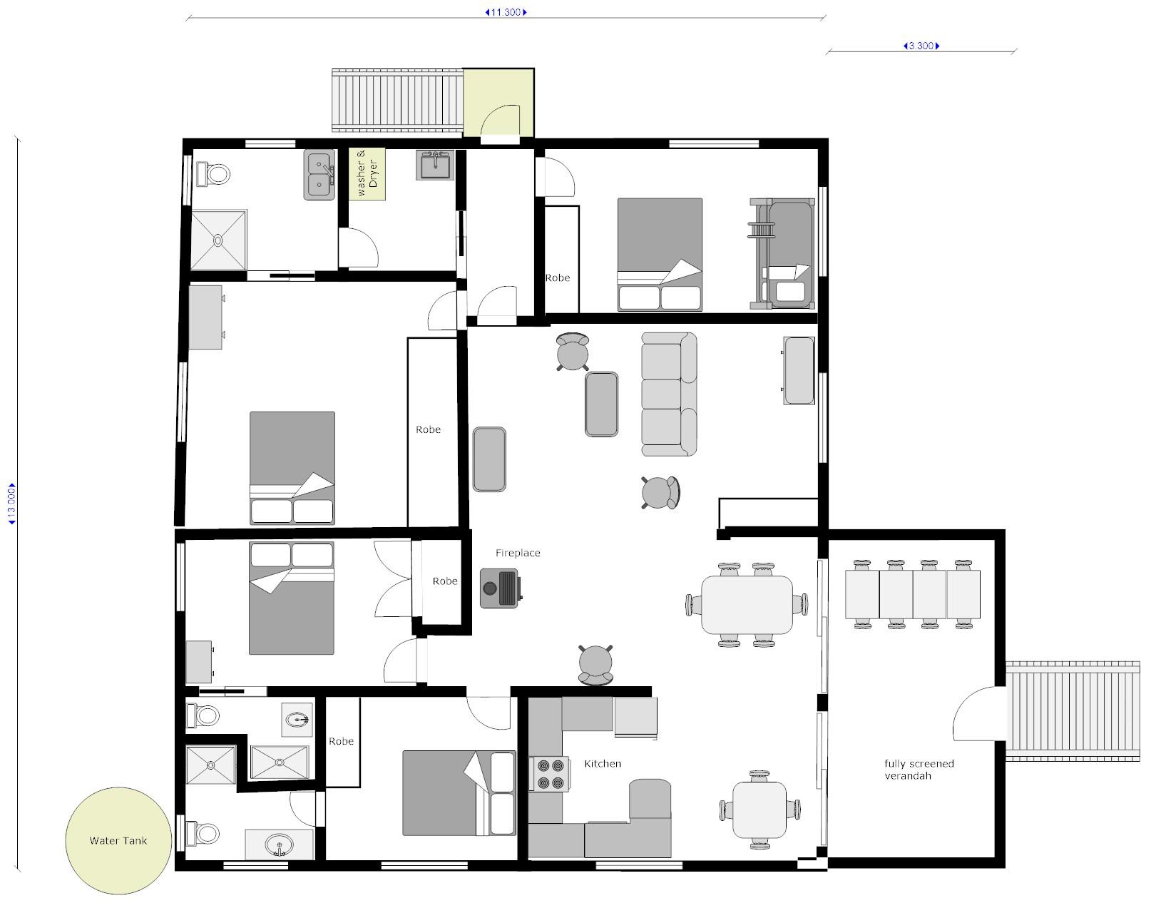 Hidden House floor plan