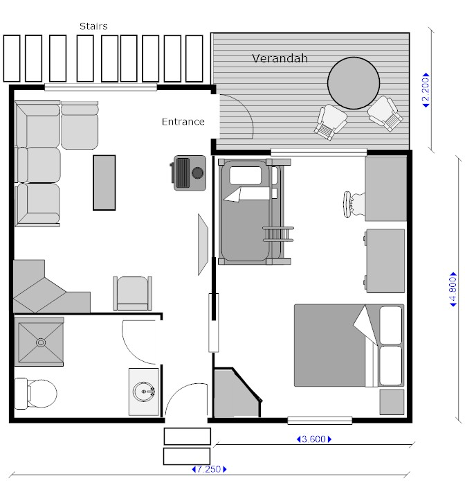 Family cabin floor plan