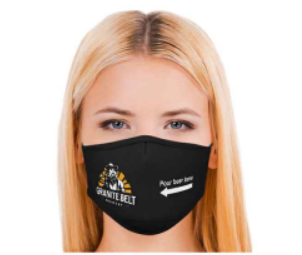 Lady wearing a face mask